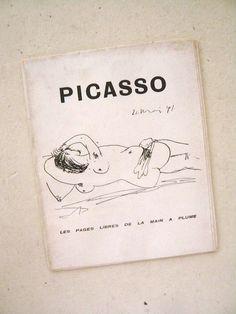 oldbooklover:  picasso, les pages libres de la main a plume, 1944