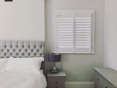 Shutters from our exclusive Miami range - offering modern twist of the plantation shutters design, the fully concealed mechanism allows you to open and close louvers with a light touch and no tilt rod visible • #modern #homes #interiordesign #bedroom #decor #window  #styling #shutters #Miami #range #plantationshutters #homedecor #home #design #modernhome #windowtreatments #instahome #instagood #instadesign •