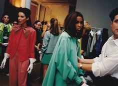 From photographer Nick Waplington's book #vintage Naomi Campbell in Isaac Mizrahi #90s via The New York Times