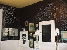 10-cuartos-de-baño- decorados- con- pintura- pizarra
