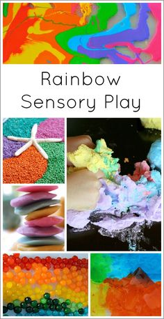 A collection of beautiful rainbow sensory play activities to delight your little ones!
