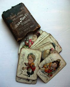 Set of Victorian nursery rhyme themed playing cards.