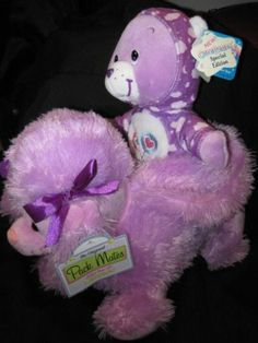 Purple Poodle Purse Kelly Toy& Share Bear Care Bear PJ Party purple hoodie,cute!