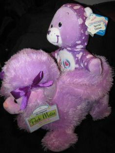 Purple Poodle Purse Kelly Toy Share Bear Care Bear PJ Party Purple Hoodie Cute | eBay