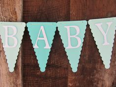 Baby Shower Banner, Baby Shower Decorations, Aqua, Teal, White, Gray on Etsy, $29.05 AUD
