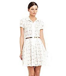 An adorable lace dress from BCBG