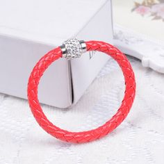Mix Crystal Bracelet Leather Wrap