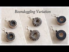 Quilling Paper Weaving/Boondoggling Earrings / DIY / Boondoggling Variation | Priti Sharma - YouTube