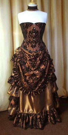 Demask pattern corset Victorian style Steampunk dress (just the pic). Absolutely beautiful!