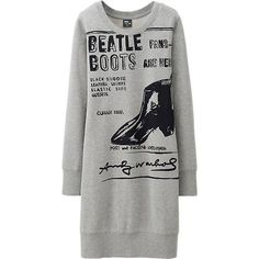 kinda lovin' this cozy sweatshirt dress fromuniqlo. perfect for relaxing on a sunday with some leggings and booties, and it's only $29.90. can't wait for this shop to open next fall on michigan ave. in chicago!