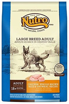 NUTRO Large Breed Adult Chicken, Whole Brown Rice and Oatmeal Dog Food, 30 lbs. *** You can get more details by clicking on the image.