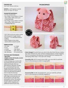 mochila de crochê infantil hipopotamo ile ilgili görsel sonucu