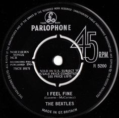 THE BEATLES I Feel Fine 1964 UK PARLOPHONE RECORDS 7 VINYL SINGLE R5200