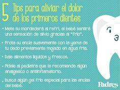 No te pierdas estos sencillos consejos para aliviar el dolor de los primeros dientes.