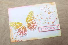 Einladung zum Geburtstag - Schmetterlinge - Produkte von Stampin up