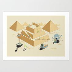 Pyramids Art Print by Teo Zirinis - $17.00