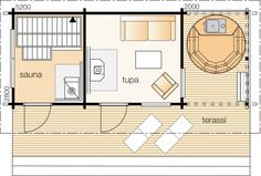 Floor Plans, Villa, Saunas, Cottage Ideas, Projects, Home, House, Ad Home, Homes