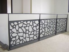 Custom Railing Artistic Panel Insert with Spindles Welded Paneling, Decor, Iron Balcony, Stairs Design, Cnc Design, Showroom Design, Stair Railing, Railing, Balcony Design