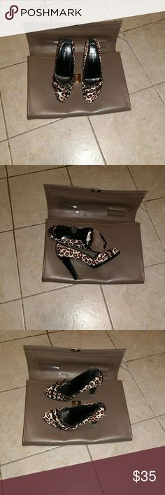 Karen Millen leopard-print stiletto-heel pumps Good pre-owned condition. See photos, showing some wear. Size 36. Made in China. The briefcase is not included. Karen Millen Shoes
