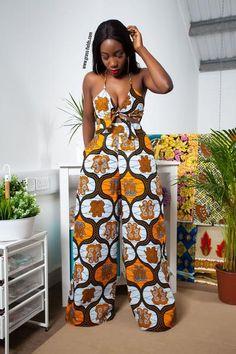 Ekite African Print Wide Leg Pants