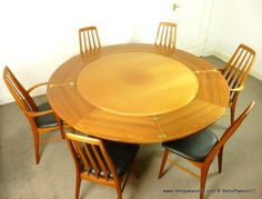 Danish Teak Flip Flap Table by Dyrlund - mid century