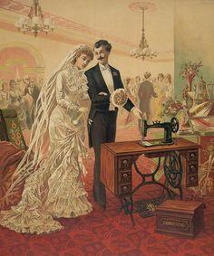 la novia y la maquina de coser