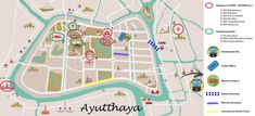 map Ayutthaya Temples, Map, Enjoying Life, Location Map, Maps