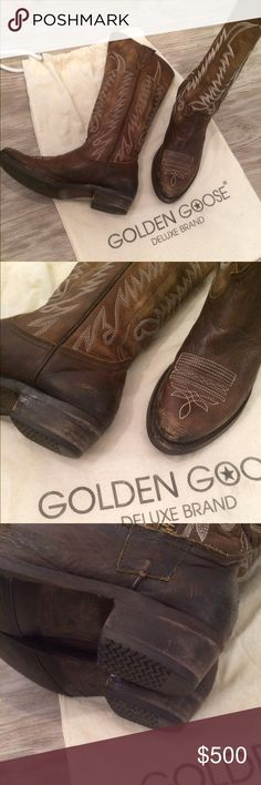 Golden Goose Western Boots Gorgeous Golden Goose Leather Boots. Barely worn, even though you will not find a more comfortable boot! Size 37 best for 7-7.5. Comes  with Duster Golden Goose Shoes