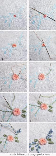 Bullion knot crash course #bullion_stitch, #bullion_knot_tutorial, #bullion_knot_rose_tutorial