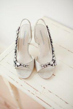 bridal shoes #weddings #bridesclub