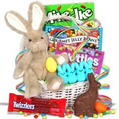 Classic Easter Bunny Gift Basket ~~ #easter  ~~