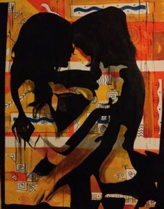"Saatchi Art Artist Eka Peradze; Painting, ""Romance. 70x90cm.#87/99"" #art"