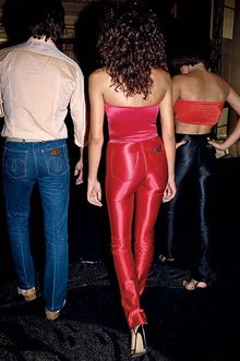 Disco jeans, 1979. I wanted a pair of these so badly, but not entirely appropriate for an eight year old.