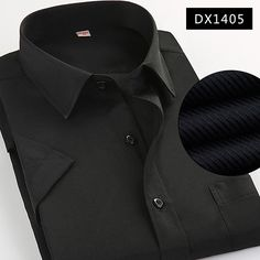 2017 Summer Style Brand Men High Quality Short Sleeve Shirts Men's Business Shirts Solid Color Formal Shirt For Work Wear