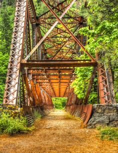 A very old bridge in Leavenworth Wa.