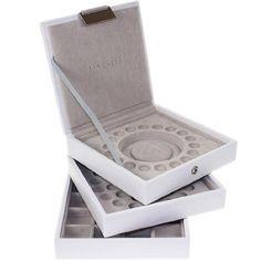 Stackers Boîte à bijoux pour bracelets à charms Blanc Idéale pour les bracelets Troll Luv Links
