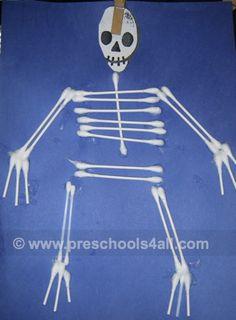 Human body skeleton craft