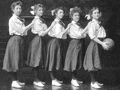 UM Women's basketball team, ca. 1900.