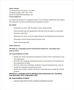 Marketing Analyst Resume Retail Manager Resume Template Cover Letter  Professional Manager