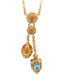 The RealReal - Aquamarine and Citrine Necklace