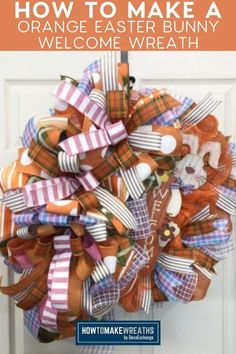 With spring approaching, it's time to get started on making some Easter wreaths! Check out our fun DIY welcome Easter bunny wreath. It makes for a great front door decor! Foam Crafts, Diy Crafts, Deco Mesh Ribbon, Welcome Wreath, Frame Wreath, Wreath Tutorial, Front Door Decor, Easter Wreaths, Fun Diy