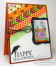 Stamping with a Passion!: Spooky Thursday!!  Washi!!