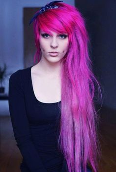 Don't understand the cheek piercings, but I love the hair & color!