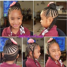 Caring for Natural Hair in Children - Kids Hairstyles Lil Girl Hairstyles, Little Girl Haircuts, Cute Hairstyles For Kids, Girls Natural Hairstyles, Kids Braided Hairstyles, Trendy Hairstyles, Teenage Hairstyles, Infant Hairstyles, Childrens Hairstyles