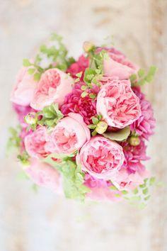 Pretty Pale & Fuschia Pink Runculus Bouquet