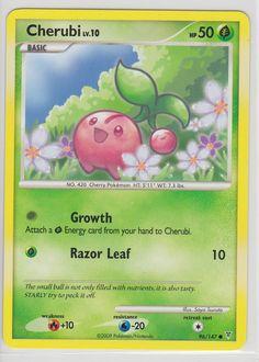 Cherubi Pokemon Card