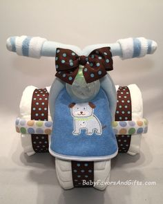 Tricycle Diaper Cake for Boy