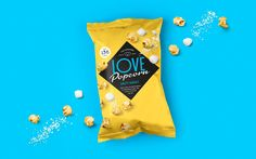 You can't move for popcorn brands these days. Love Popcorn are different. They use real ingredients and the flavours are outstanding. To get them noticed, we created a tasty, confident colour palette and… Popcorn Packaging, Chip Packaging, Rice Packaging, Honey Packaging, Chocolate Packaging, Food Packaging Design, Brand Packaging, Gourmet Popcorn, Popcorn