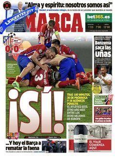 Atlético de Madrid - PSV (Octavos de final de la Champions). 17/03/2016. Tras empatar en la ida, la vuelta se resuelve en la tanda de penaltis.