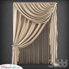 37 Ideas For Bathroom Window Curtains Ideas Design Bed Drapes, Brown Curtains, Elegant Curtains, Beautiful Curtains, Bathroom Window Curtains, Home Curtains, Hanging Curtains, Window Coverings, Window Treatments